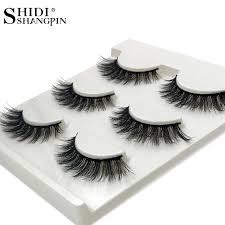 <b>SHIDISHANGPIN 3 pairs mink</b> eyelashes natural long eyelashes ...