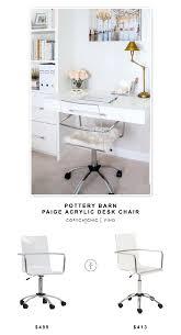 acrylic office chair. pottery barn paige acrylic desk chair office