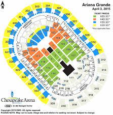 Seating Chart Chesapeake Energy Arena Ariana Grande Chesapeake Energy Arena