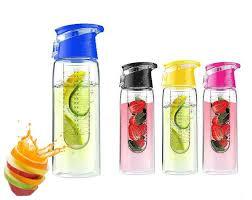 700ml sports fruit infuser water bottle black view larger image