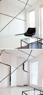 white cabinet door design. 5 Ideas For Unconventional Cabinet Door Designs // Black Slashes Across The Doors And White Design S