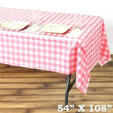 disposable table cloth gorgeous checd plastic cover white pink round tablecloths wedding black and