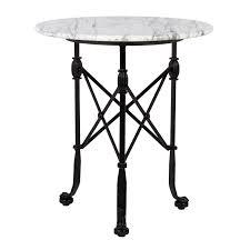 corvus side table low marble