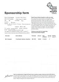 Blank Sponsor Form Template Beauteous Microsoft Word Sponsorship Form Template Sponsor Card Nerdcredco