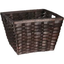 woven wood basket. Plain Wood Better Homes And Gardens Woven Wood Cube Basket Throughout O