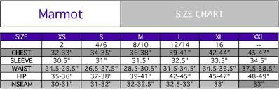 12 Size Chart Marmot Sleeping Bag Size Chart
