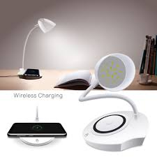 Sikai Qi Draadloze Oplader Bureaulamp 5 W Led Charger Lamp Voor