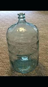 5 gallon glass water jug vintage blue green bottle delivery 5 gallon glass water jug spigot
