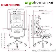 ergohuman plus chair dimensions