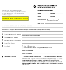 Official Documents Template Cover Sheet Templates 15 Free Word Pdf Documents