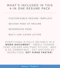 Cover Letter Resume Template Word Resume Template Word Free Cover Letter Cv Template Teacher Modern Professional Resume Template Design Diy Template Instant Download