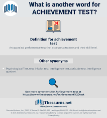 Synonyms For Achievement Test Thesaurus Net