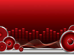 Red Ppt Red Music Player Powerpoint Templates Music Objects Red