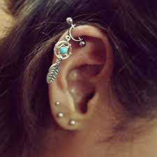 Dream Catcher Helix Earring Helix Cartilage Bar Earring Ear Piercing 100g Dream Catcher 9