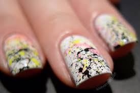 Love Varnish: A splatter nail art using Maybelline Bleached Neon ...