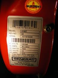 generac 7000exl briggs and stratton 5500w generators engine labels i don t know the exact age of the generator it is model 1657 2 from the manuals revision 2 seems to have been produced in early 2006