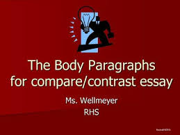swbat introduce the topic of their essay using a hook and  the body paragraphs for compare contrast essay ms wellmeyer rhs revised 9 2011