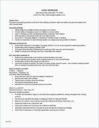 child care duties responsibilities resume