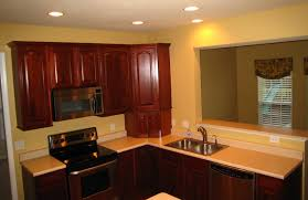 Kitchen, Yellow Wall Affordable Kitchen Wood Cabinets For Small Kitchen:  Cool Affordable Kitchen Cabinets