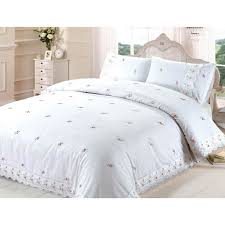 sophie lace embroidered duvet cover set white