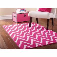 pink carpet rug mainstays distressed zig zag rugs for kids room bedroom 45