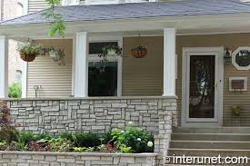 Awesome Stone Front Porch Decorated