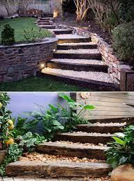 diy ideas to make garden stairs