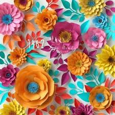 Paper Flower Backdrop Rental Paper Flowers Backdrop