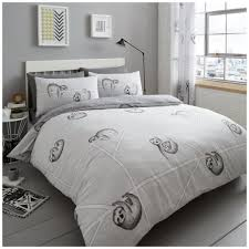 grey animal print duvet quilt cover polycotton bedding set pillow case out of stock
