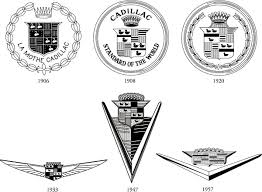 cadillac logo 2013. the cadillac shield this is divided into 4 parts first part crown that refers to association of family with six logo 2013