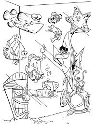 Small Picture Finding Nemo Fish Tank Coloring Page NetArt