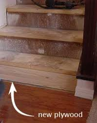 installing wood stairs. Fine Wood New Plywood On Steps Throughout Installing Wood Stairs E