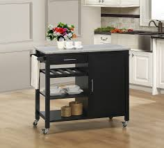 Granite Kitchen Cart Excellent Butcher Block Cart Kitchen Rolling Butcher Block Cart