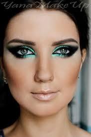 clic teal eye makeup
