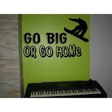 go big or go home skateboard sport motto vinyl wall art sticker kids bedroom giant on large wall art stickers uk with go big or go home motto kids bedroom wall sticker wall art decal