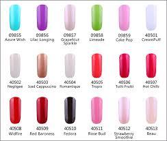 Shellac Nail Polish Swatch Colour Charts