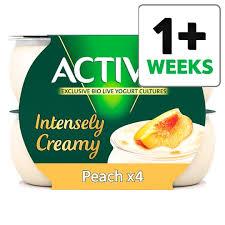 image 1 of activia intensely creamy peach yogurt 4 x110g