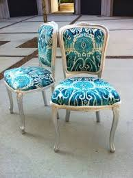 ikat french louis xvi dining chairs fabric