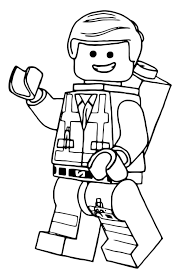 Lego Emmet Coloring Pages