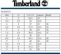 Timberland Women S Shoes Size Chart Timberland Size Conversion Chart Timberland Boots