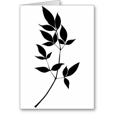 tree branch with leaves vector. black \u0026 white vector leaves branch silhouette tree with