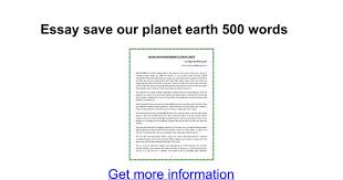 essay save our planet earth words google docs