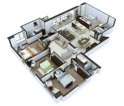 3 Bedroom Open Floor House Plans Creative Design Best Inspiration Design