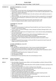 Commercial Analyst Resume Samples Velvet Jobs