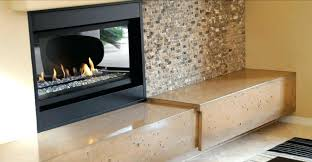 concrete fireplace 2 hearth by exchange ideas design fireplac