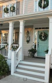 exterior door painting ideas. Fine Ideas Fronthouseshotchristmasporch On Exterior Door Painting Ideas
