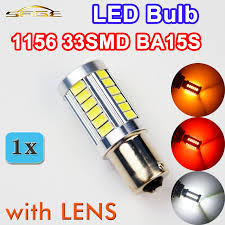 flytop <b>1 x</b> 5630 33SMD 1156 LED Lamp with LENS <b>BA15S</b> White ...