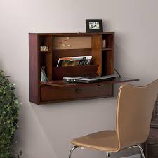 Harper Blvd Florien Brown Mahogany Wall-Mount Laptop Desk - Free Shipping  Today - Overstock.com - 13989617