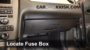 interior fuse box location 2010 2014 ford mustang 2013 ford locate interior fuse box and remove cover