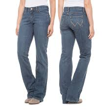 Wrangler Q Baby Ultimate Riding Jeans Mid Rise Bootcut For Women